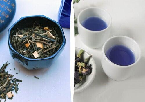 Blauwe thee voor natuurlijk gewichtsverlies