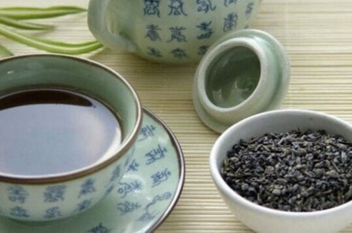 Blauwe thee