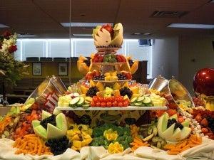Desserttafel van fruit