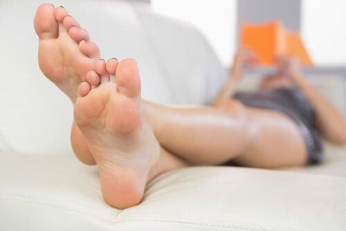 voeten omhoog