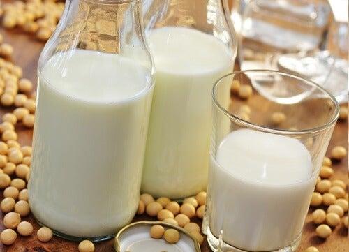 Voordelen van soorten melk gebaseerd op planten zoals sojamelk