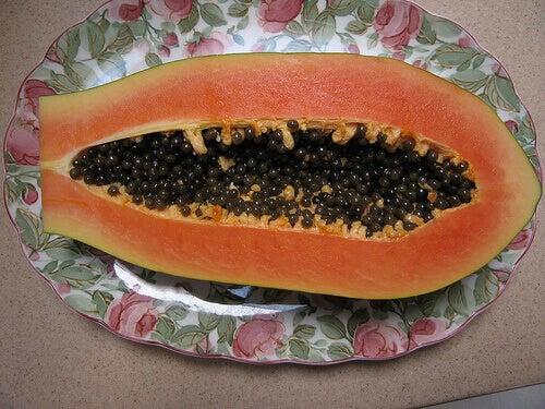 Gesneden papaja