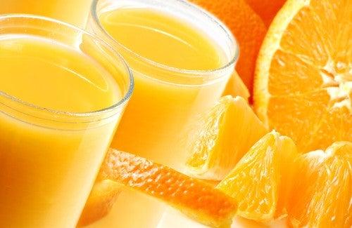 Sinaasappelsap is goed voor de lever