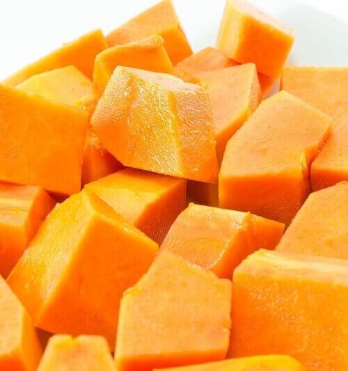 stukjes papaja