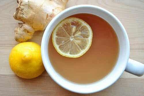 Gezond afvallen met gember en citroen