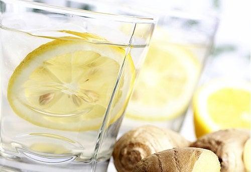 Limonade met gember en citroen