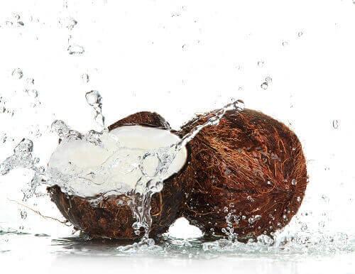 kokosnoot en kokosnootwater