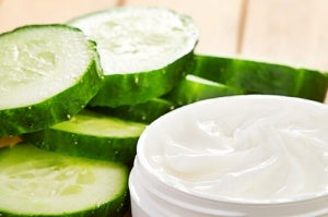 Scrub met komkommer