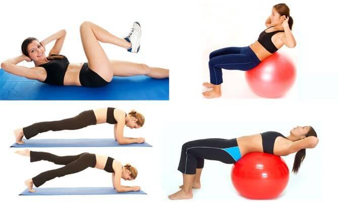 Oefeningen met een fitnessbal