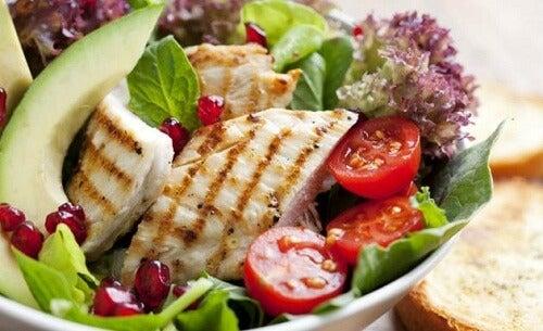 salade met kip