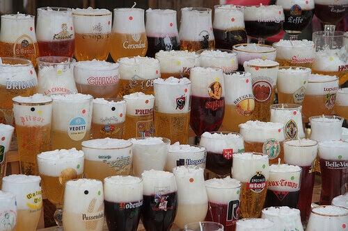 Verschillende soorten bier