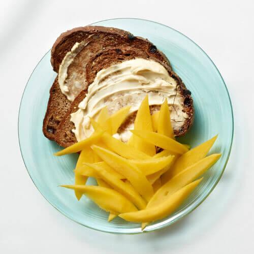 Geroosterd Brood met Mango