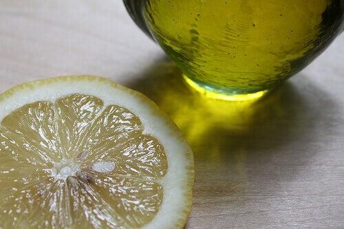 olijfolie en citroen