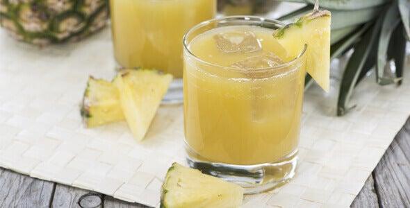 Slijm verwijderen met ananassap