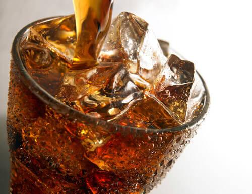 Frisdrank in een glas