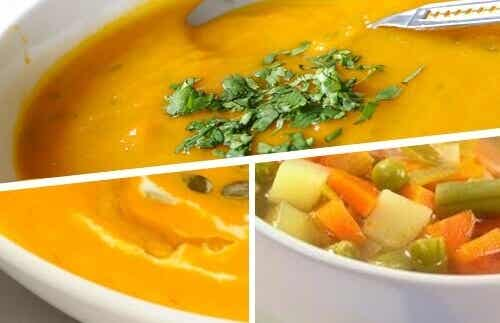 5 heerlijke, romige soepen om gewicht te verliezen