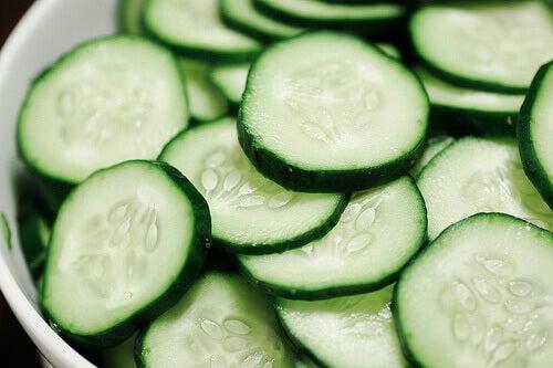 Komkommerschijfjes