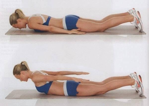 Oefening voor een mooie rug