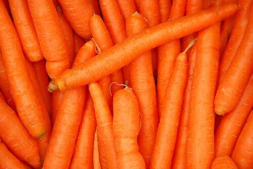 Vitamine A vind je in wortels
