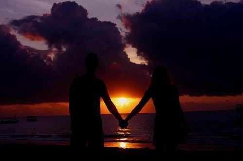 Geliefden bij Zonsondergang