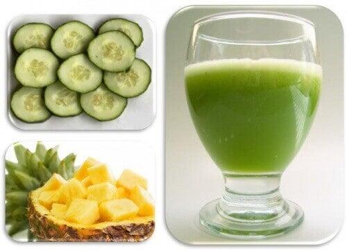 Ananas en komkommer
