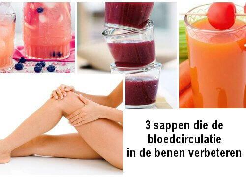 3 sappen voor een goede bloedsomloop in de benen