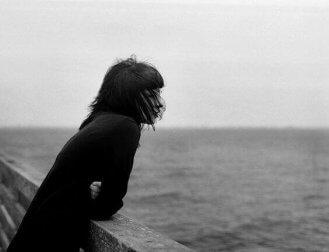 Eenzame vrouw