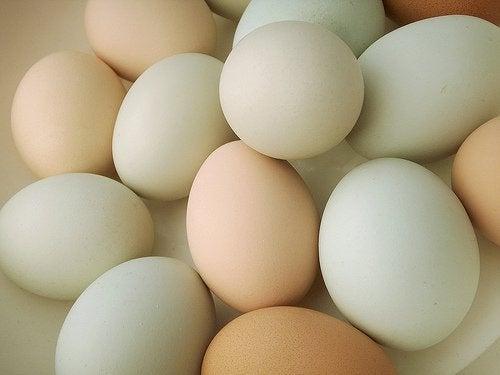 Eieren in een schaal