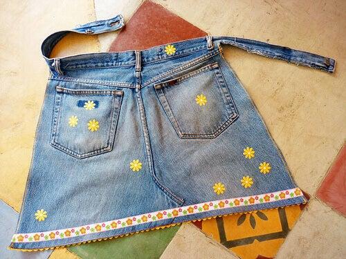 Een keukenschort van je oude jeans
