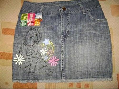 Een spijkerrokje van je oude jeans