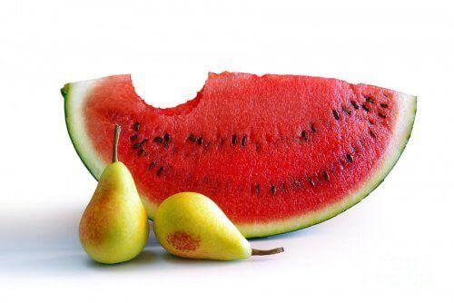 Watermeloen en Peren