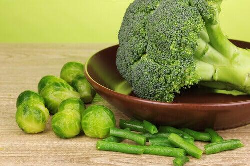 Broccoli, spruiten en sperziebonen