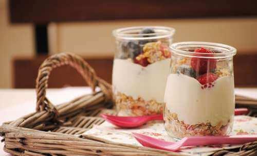 Ontbijt met Yoghurt en Fruit