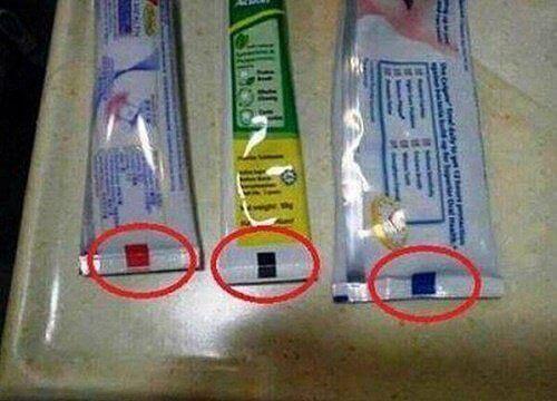 Wat betekenen de kleuren op tandpastatubes?