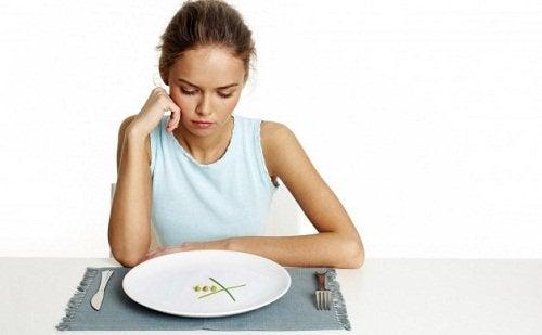 Honger lijden bij afvallen