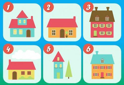 De test met de zes huizen