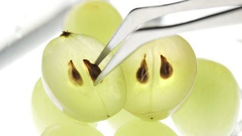 Witte druiven met pit