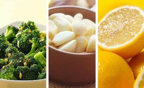 Gewicht verliezen door citroen, broccoli en knoflook