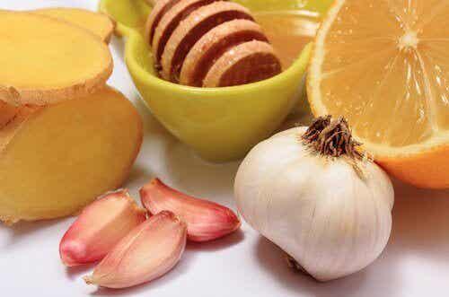 Gember, knoflook en honing voor 8 aandoeningen