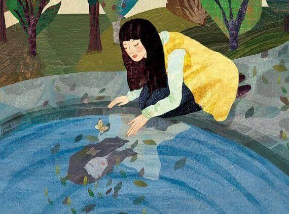 Vrouw bij het Water