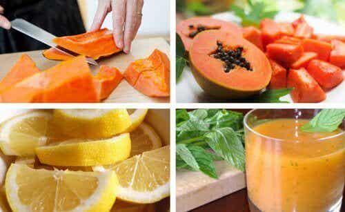 Ontgift je maag met papaja en citroen