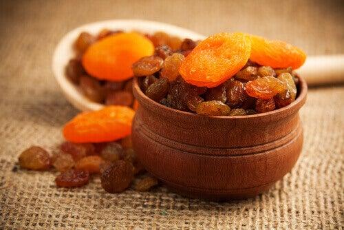 Rozijnen en Abrikozen