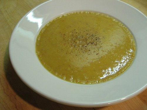 Een gezonde soep is hydraterend