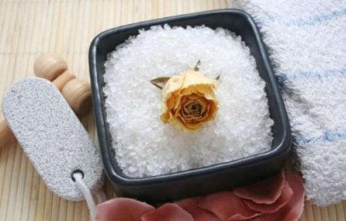 Cellulite bestrijden met zeezout