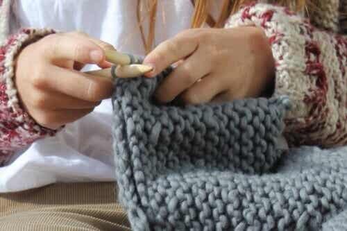 Woltherapie, de voordelen van breien