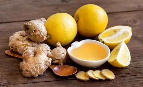 Gember met citroen en honing