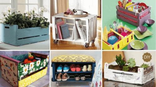 20 manieren om houten kistjes te hergebruiken