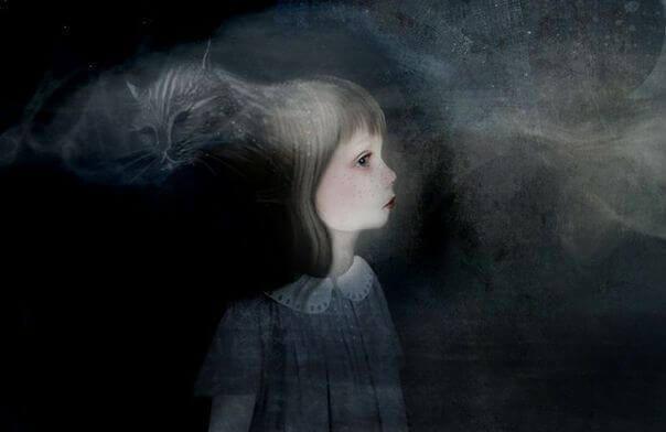 Kind in het donker