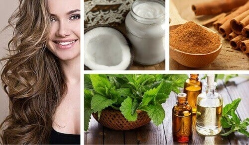 Kokos, munt en kaneel om de haargroei te stimuleren