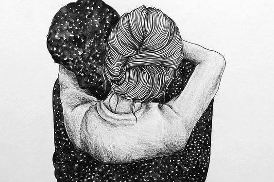 Omhels me zo hard dat het mijn onzekerheid vernietigt